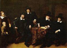 Los médicos de la leprosería de Ansterdam, un óleo de Ferdinand Bol