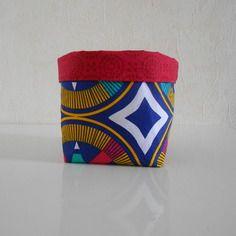 Vide-poches / corbeille en tissu africain (wax)