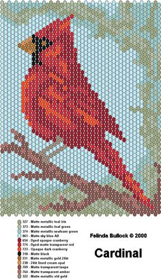 result for Free Peyote Stitch Patterns Beaded Christmas Ornament Brick Stitch Patterns, Peyote Stitch Patterns, Bead Loom Patterns, Jewelry Patterns, Peyote Stitch Tutorial, Peyote Beading Patterns, Cross Stitch Bird, Cross Stitching, Cross Stitch Embroidery