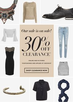 Sale 30% off clearance