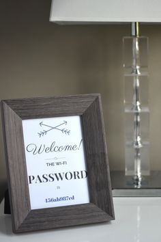 Guest Wi-Fi Password