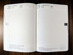Love the idea of graph paper!      [Hobonichi] Hobonichi Planner 2014 Review | The Unroyal Warrant