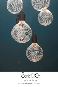 Decorex 2019 – Style&Co - Jonathan Rogers at Decorex 2019 – beautiful lighting designs in hand blown glass – see more be - Beautiful Soup, Beautiful Homes, Lighting Design, Lighting Ideas, Home Decor Accessories, Hand Blown Glass, Luxury Homes, Light Bulb, Ceiling Lights