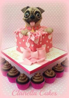 pug puppy cake