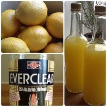 Homemade Limoncello--Limoncello is an Italian lemon liquor that is traditionally sipped after dinner. Served chilled, it is the perfect way to finish a delicious meal.