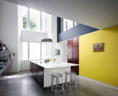 modern yellow accent wall - Google Search