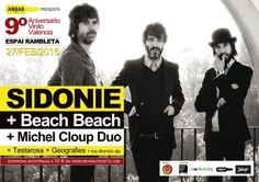9º Aniversario Vinilo Valencia: Sidonie   Beach Beach   Michel Cloup Duo   Testarosa   Geografies   Atomos Djs en La Rambleta