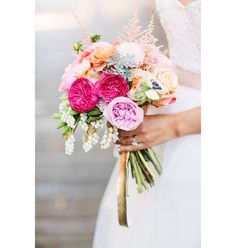 Un bouquet de pivoines colorées pinterest mariage