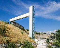 urban elevator by ah asociados unites neighborhoods in pamplona