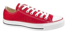 Converse Chuck Taylors Low Top- Red, the REd Converse I want, specifically the (Product) Red version, because a portion of the sale goes towards 'Global Fund to fight AIDS, Tuberculosis and Malaria'