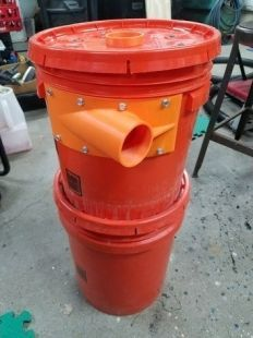 Dustopper High Efficiency Dust Separator Cyclonic Plastic Patent-Pending Chamber