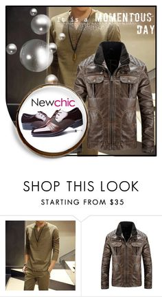 """""""NewChic 21."""" by zura-b ❤ liked on Polyvore featuring men's fashion and menswear"""