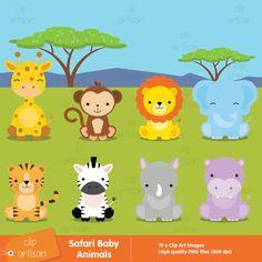 Safari Baby Animals Clipart / Jungle Animals by ClipArtisan