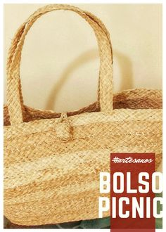 Bolso Picnic Straw Bag, Burlap, Reusable Tote Bags, Hand Made, Totes, Tejidos, Accessories, Hessian Fabric, Jute