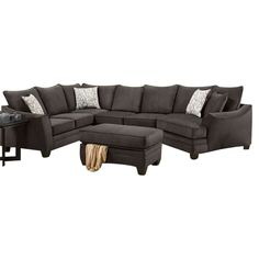 Savvy Gray Cuddler Sectional | Weekends Only Furniture And Mattress