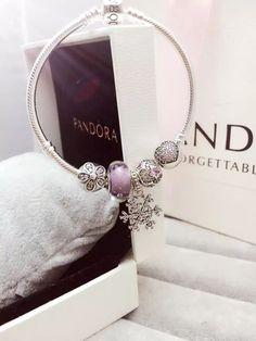 50% OFF!!! $159 Pandora Charm Bracelet Purple. Hot Sale!!! SKU: CB01621 - PANDORA Bracelet Ideas