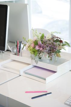 #desk-accessory View entire slideshow: 20 Chic Ideas for an Organized Office on http://www.stylemepretty.com/collection/329/