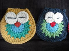 Purple Chair Crochet: Owl Make a Motif (Free!)
