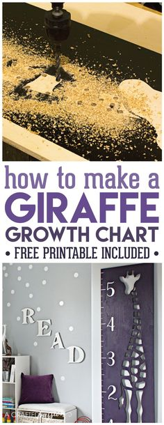 DIY Wooden Growth Chart Idea   How to Make   Printable