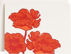 Poppies Letterpress Greeting Card
