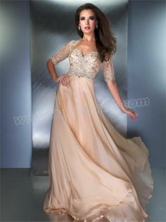 Beaded Sweetheart Champagne Prom Dress with Bolero