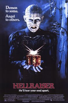 A great movie poster from the classic horror film Hellraiser! Clive Barker's Cenobite Pinhead is Demon to Some, Angel to Others. Need Poster Mounts. Best Horror Movies, Classic Horror Movies, Scary Movies, Great Movies, Terror Movies, 80s Movies, Amazing Movies, 3 Movie, Movie List