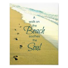 Browse our amazing and unique Footprints On Beach wedding gifts today. The happy couple will cherish a sentimental gift from Zazzle. Beachy Quotes, Sand Quotes, Ocean Quotes, Gift Quotes, Walking Quotes, Beach Walk, Sand Beach, Beach Wedding Gifts, Smile Word