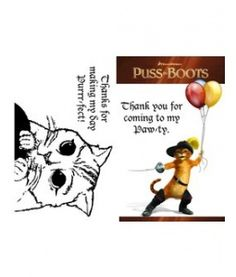 Puss in Boots Coloring Book party favor