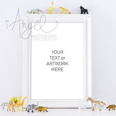 STYLE This styled photograph features a White Frame on a white shelf with little toy animals. Perfect for presenting your artwork. IDEAL FOR Ideal for graphic artists, creative entrepreneurs, bloggers, online shop owners, marketers and Ιnstagram enthusiasts. THE STORY Be interested in others. The person who hopes to be interesting does not struggle to draw everyone's eyes to her. She keeps her eyes on everyone else. Find joy in your work, find images you love. Make creative plans, and dare…