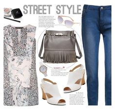 """""""Street Style"""" by beebeely-look ❤ liked on Polyvore featuring BCBGMAXAZRIA, Topshop, StreetStyle, watch, sammydress, streetwear and summersandals"""