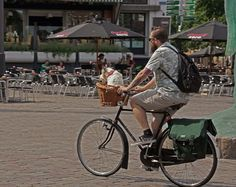 Zwolle, hond transportfiets / frome the town of Zwolle a dog transporter !