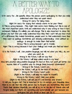 A better way to apologize, four steps for helping your RAD make it right! Reactive Attachment Disorder #reactiveattachmentdisorder #RAD
