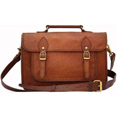 Leather Camera Bag / Satchel / Messenger Bag - Two in One - Vintage... ($119) ❤ liked on Polyvore