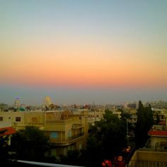Syria Damascus Sunset