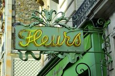 french florist sign