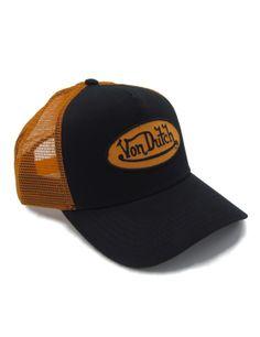 Von Dutch Logo trucker cap - black orange Von Dutch d482195b25c
