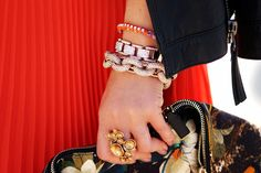 Love our Pave Link Bracelet on HallieDaily