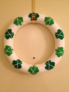 St Patricks Day Argyle Yarn Wreath. $20.00, via Etsy.