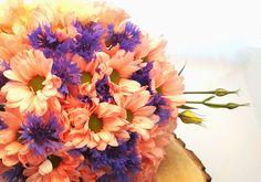 Bukiet ślubny, chabrowy z różem Plants, Plant, Planting