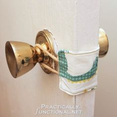How-To: Nursery Door Latch Cover...works great for a classroom door too!