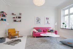 Szürke fal, fehér padló - modern skandináv lakberendezés egy polgári házban - Lakberendezés trendMagazin