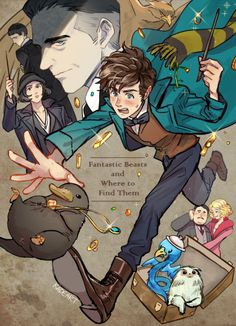 Fantastic Beasts and Where to Find Them by kadeart #harrypotter #fanart
