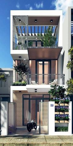 40 Super Top Architecture House Designs - Engineering Discoveries Minimal House Design, Modern Small House Design, Modern Minimalist House, Home Modern, Small Modern House Exterior, Modern Design, 3 Storey House Design, Bungalow House Design, House Front Design