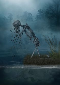 I love Art ,Horror and other nice things. All the Pictures that I post do not belong to me! Skeleton Love, Skeleton Art, Gothic Fantasy Art, Dark Fantasy, Skull Pictures, Cool Pictures, Memento Mori, Art Macabre, Art Of Dan