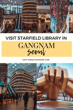 If you were thinking of skipping Gangnam district, think again. It's modern and innovative experiences like Starfield Library will take your breath away. Seoul Korea Travel, Asia Travel, Solo Travel, Japan Travel, Seoul Fashion, Korean Fashion, Seoul Wallpaper, Gangnam District, Gangnam Seoul