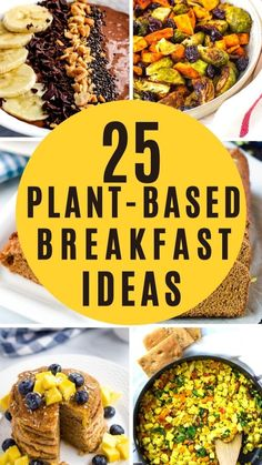 Plant Based Diet Meals, Plant Based Whole Foods, Plant Based Eating, Plant Based Recipes, Vegetarian Breakfast Recipes, Vegan Dinner Recipes, Whole Food Recipes, Keto Recipes, Healthy Recipes
