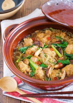 煮るだけ5分♪『豚団子とはるさめの麻婆風中華鍋』 by Yuu | レシピサイト「Nadia | ナディア」プロの料理を無料で検索