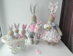 "Куклы Тильды ручной работы. Ярмарка Мастеров - ручная работа. Купить Семейка ""Зайцевых"". Handmade. Серый, заяц игрушка, зайцы"