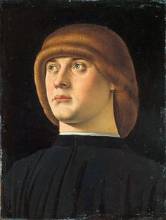 medievalautumn:  Portrait of a Young Man by Jacometto Veneziano (1472 -1497)