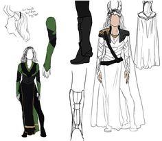 Lady Loki Designs by ~MelodicMadness